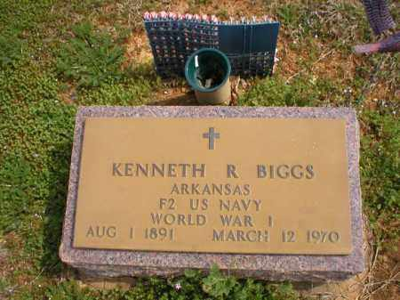 BIGGS  (VETERAN WWI), KENNETH R. - Logan County, Arkansas   KENNETH R. BIGGS  (VETERAN WWI) - Arkansas Gravestone Photos