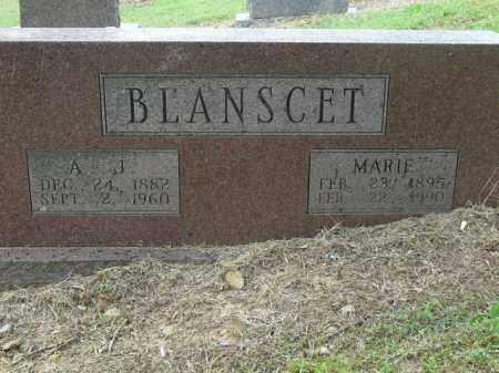 BLANSCET, A.J. - Logan County, Arkansas   A.J. BLANSCET - Arkansas Gravestone Photos