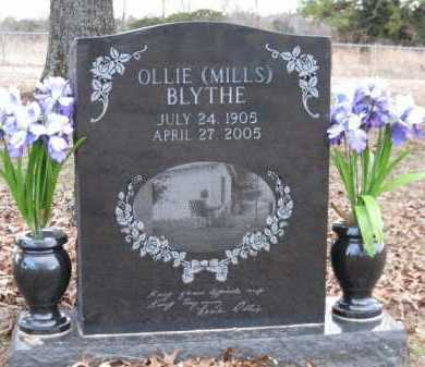 MILLS BLYTHE, OLLIE - Logan County, Arkansas | OLLIE MILLS BLYTHE - Arkansas Gravestone Photos