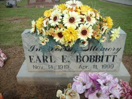 BOBBIT, EARL E. - Logan County, Arkansas | EARL E. BOBBIT - Arkansas Gravestone Photos