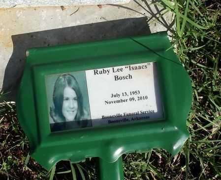 ISAACS BOSCH, RUBY LEE (PHOTO) - Logan County, Arkansas | RUBY LEE (PHOTO) ISAACS BOSCH - Arkansas Gravestone Photos