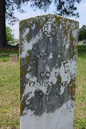 BOWLES (VETERAN CSA), WYATT S - Logan County, Arkansas | WYATT S BOWLES (VETERAN CSA) - Arkansas Gravestone Photos
