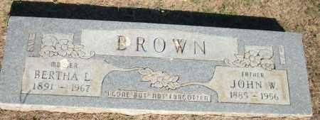 BROWN, JOHN W. - Logan County, Arkansas | JOHN W. BROWN - Arkansas Gravestone Photos