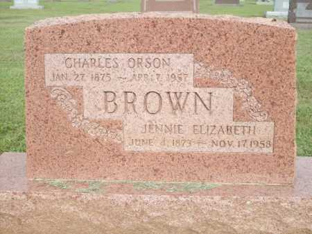 BROWN, JENNIE ELIZABETH - Logan County, Arkansas | JENNIE ELIZABETH BROWN - Arkansas Gravestone Photos