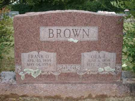 BROWN, ORA E. - Logan County, Arkansas | ORA E. BROWN - Arkansas Gravestone Photos