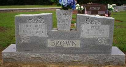 BEST BROWN, EDITH - Logan County, Arkansas | EDITH BEST BROWN - Arkansas Gravestone Photos