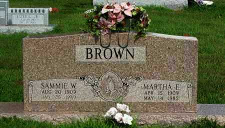 BROWN, SAMMIE W - Logan County, Arkansas | SAMMIE W BROWN - Arkansas Gravestone Photos