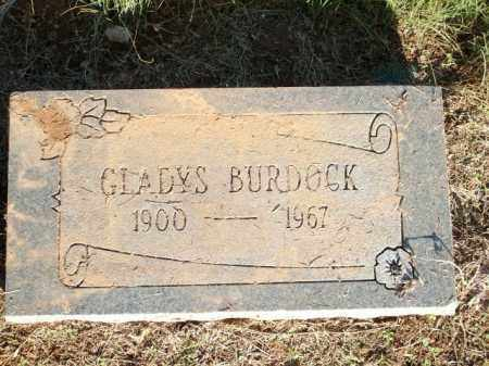 BURDOCK, GLADYS - Logan County, Arkansas | GLADYS BURDOCK - Arkansas Gravestone Photos