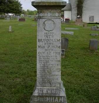 BURNHAM, IVEN - Logan County, Arkansas   IVEN BURNHAM - Arkansas Gravestone Photos