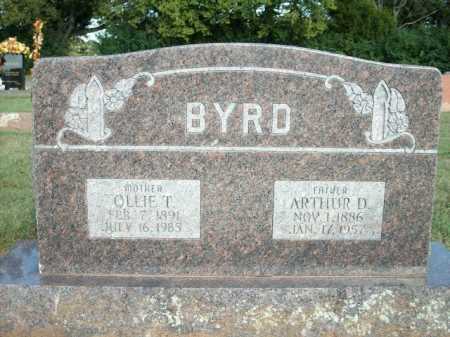 BYRD, ARTHUR D. - Logan County, Arkansas | ARTHUR D. BYRD - Arkansas Gravestone Photos