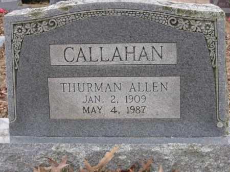 CALLAHAN, THURMAN ALLEN - Logan County, Arkansas | THURMAN ALLEN CALLAHAN - Arkansas Gravestone Photos