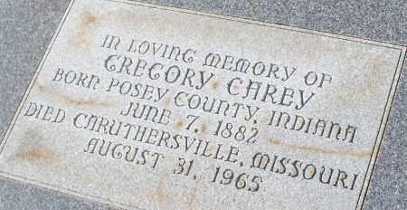 CAREY, GREGORY - Logan County, Arkansas | GREGORY CAREY - Arkansas Gravestone Photos