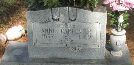 CARPENTER, ANNIE - Logan County, Arkansas   ANNIE CARPENTER - Arkansas Gravestone Photos