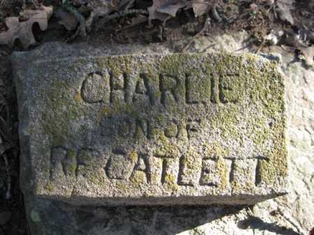 CATLETT, CHARLIE - Logan County, Arkansas | CHARLIE CATLETT - Arkansas Gravestone Photos