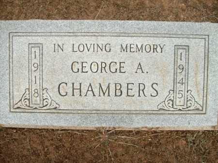 CHAMBERS, GEORGE A. - Logan County, Arkansas   GEORGE A. CHAMBERS - Arkansas Gravestone Photos