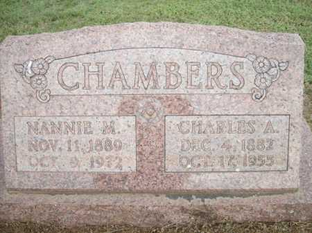 CHAMBERS, NANNIE M. - Logan County, Arkansas | NANNIE M. CHAMBERS - Arkansas Gravestone Photos