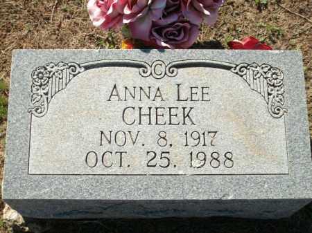 CHEEK, ANNA LEE - Logan County, Arkansas   ANNA LEE CHEEK - Arkansas Gravestone Photos