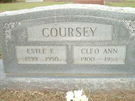 COURSEY, CLEO ANN - Logan County, Arkansas | CLEO ANN COURSEY - Arkansas Gravestone Photos