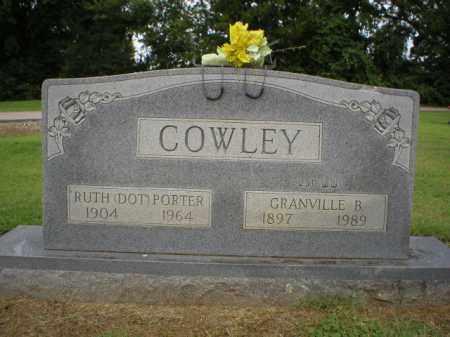 PORTER COWLEY, RUTH - Logan County, Arkansas | RUTH PORTER COWLEY - Arkansas Gravestone Photos