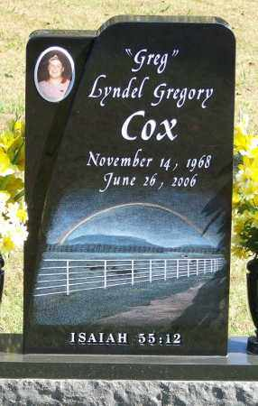 "COX, LYNDEL GREGORY ""GREG"" - Logan County, Arkansas | LYNDEL GREGORY ""GREG"" COX - Arkansas Gravestone Photos"