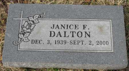 DALTON, JANICE F. - Logan County, Arkansas | JANICE F. DALTON - Arkansas Gravestone Photos