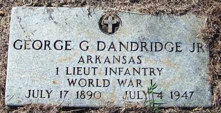 DANDRIDGE, JR  (VETERAN WWI), GEORGE G - Logan County, Arkansas | GEORGE G DANDRIDGE, JR  (VETERAN WWI) - Arkansas Gravestone Photos