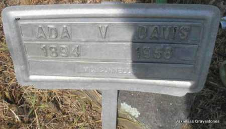 DAVIS, ADA V - Logan County, Arkansas   ADA V DAVIS - Arkansas Gravestone Photos