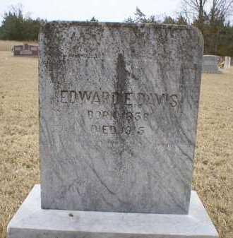 DAVIS, EDWARD E. - Logan County, Arkansas   EDWARD E. DAVIS - Arkansas Gravestone Photos
