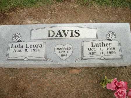 DAVIS, LUTHER - Logan County, Arkansas | LUTHER DAVIS - Arkansas Gravestone Photos