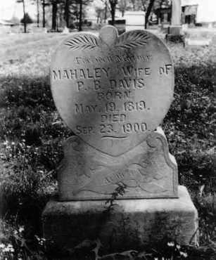 STAFFORD DAVIS, MAHALEY - Logan County, Arkansas | MAHALEY STAFFORD DAVIS - Arkansas Gravestone Photos