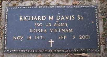 DAVIS, SR (VETERAN 2 WARS), RICHARD M - Logan County, Arkansas | RICHARD M DAVIS, SR (VETERAN 2 WARS) - Arkansas Gravestone Photos