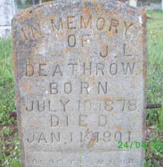 DEATHROW, J L - Logan County, Arkansas | J L DEATHROW - Arkansas Gravestone Photos