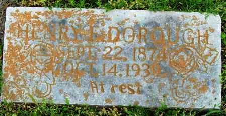 DORROUGH, HENRY E - Logan County, Arkansas | HENRY E DORROUGH - Arkansas Gravestone Photos