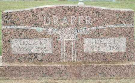 DRAPER, LESLIE R. - Logan County, Arkansas   LESLIE R. DRAPER - Arkansas Gravestone Photos