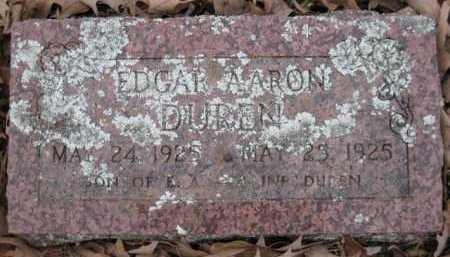 DUREN, EDGAR AARON - Logan County, Arkansas | EDGAR AARON DUREN - Arkansas Gravestone Photos