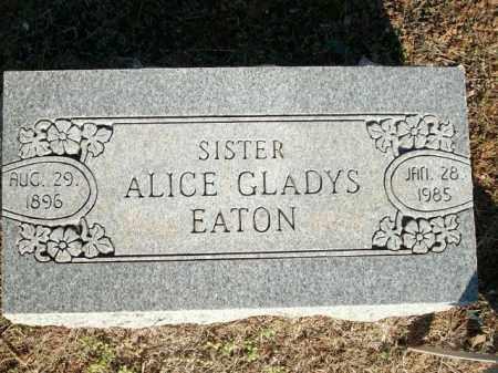 EATON, ALICE GLADYS - Logan County, Arkansas   ALICE GLADYS EATON - Arkansas Gravestone Photos