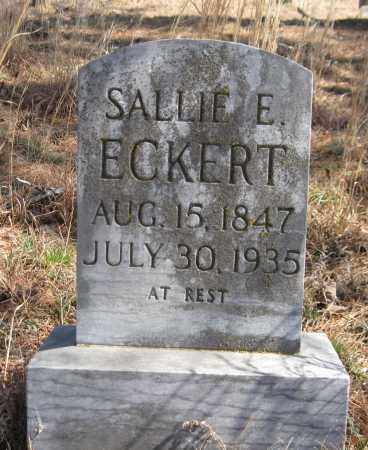 ECKERT, SALLIE E - Logan County, Arkansas | SALLIE E ECKERT - Arkansas Gravestone Photos