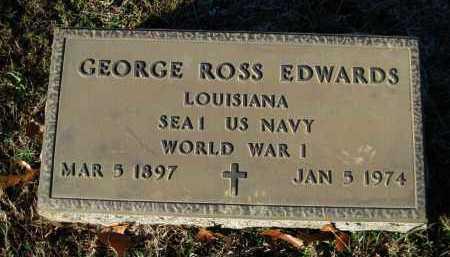 EDWARDS (VETERAN WWI), GEORGE ROSS - Logan County, Arkansas | GEORGE ROSS EDWARDS (VETERAN WWI) - Arkansas Gravestone Photos