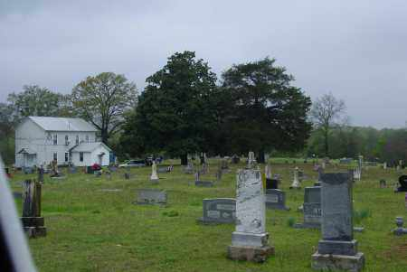 *OVERVIEW AND CHURCH,  - Logan County, Arkansas |  *OVERVIEW AND CHURCH - Arkansas Gravestone Photos