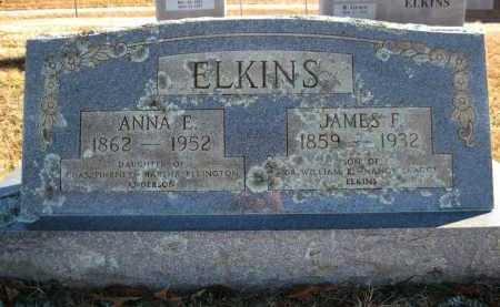 ELKINS, JAMES F - Logan County, Arkansas | JAMES F ELKINS - Arkansas Gravestone Photos