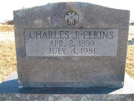 ELKINS, CHARLES J - Logan County, Arkansas   CHARLES J ELKINS - Arkansas Gravestone Photos