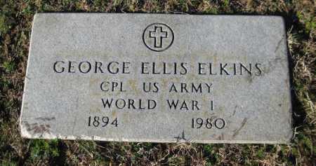 ELKINS (VETERAN WWI), GEORGE ELLIS - Logan County, Arkansas | GEORGE ELLIS ELKINS (VETERAN WWI) - Arkansas Gravestone Photos