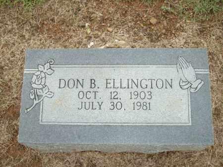 ELLINGTON, DON B. - Logan County, Arkansas | DON B. ELLINGTON - Arkansas Gravestone Photos