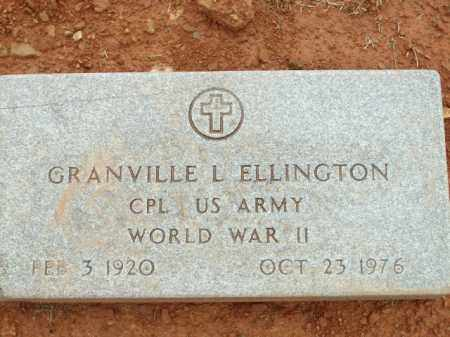 ELLINGTON (VETERAN WWII), GRANVILLE L - Logan County, Arkansas   GRANVILLE L ELLINGTON (VETERAN WWII) - Arkansas Gravestone Photos