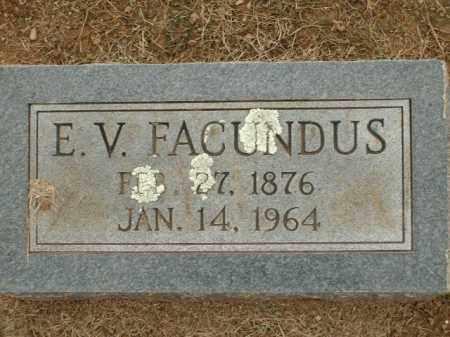 FACUNDUS, E.V. - Logan County, Arkansas | E.V. FACUNDUS - Arkansas Gravestone Photos
