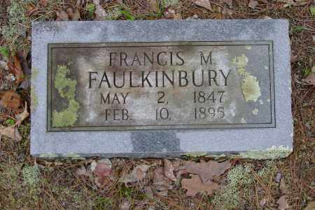 FAULKINBURY, FRANCIS MARION - Logan County, Arkansas | FRANCIS MARION FAULKINBURY - Arkansas Gravestone Photos