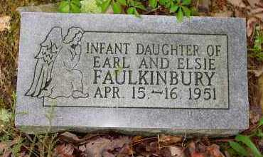 FAULKINBURY, INFANT DAUGHTER - Logan County, Arkansas   INFANT DAUGHTER FAULKINBURY - Arkansas Gravestone Photos
