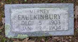 FAULKINBURY, MERNEY - Logan County, Arkansas   MERNEY FAULKINBURY - Arkansas Gravestone Photos