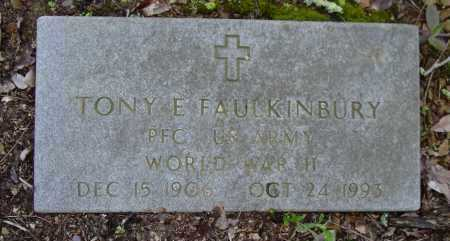 FAULKINBURY (VETERAN WWII), TONY E - Logan County, Arkansas | TONY E FAULKINBURY (VETERAN WWII) - Arkansas Gravestone Photos