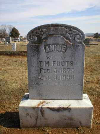 FOUTS, ANNIE - Logan County, Arkansas | ANNIE FOUTS - Arkansas Gravestone Photos